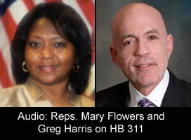HB 311 'Health Care for All Illinois Act' co-sponsors Rep. Mary Flowers and Rep. Greg Harris